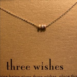 "Dogeared ""Three Wishes"" charm necklace"